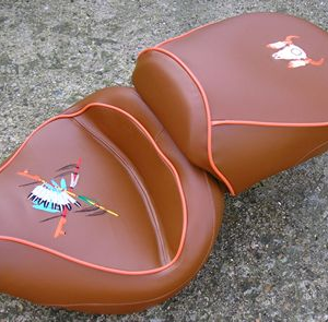 Red Indian custom seat