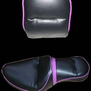 Dyna Wide Glide Seat with Purple Piping