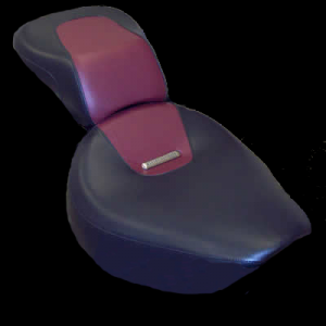 Seat with Maroon Insert and Metal Badge