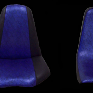 Black and Blue Trike Seats