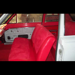 Red Seats for an American Plymouth
