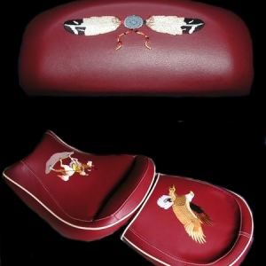 Embroidered Seat for a BMW Trike